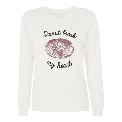 DONUT BREAK MY HEART SWEATER