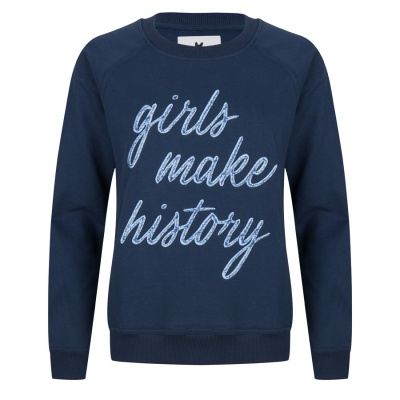 GIRLS MAKE HISTORY BLUE