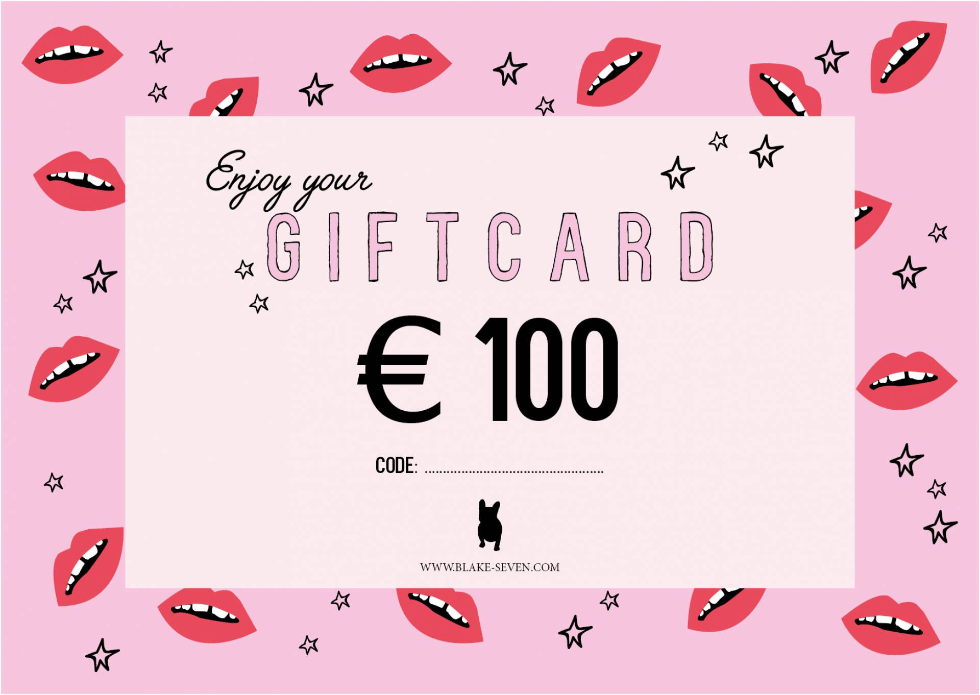 Giftcard 100 Euro Blake Seven